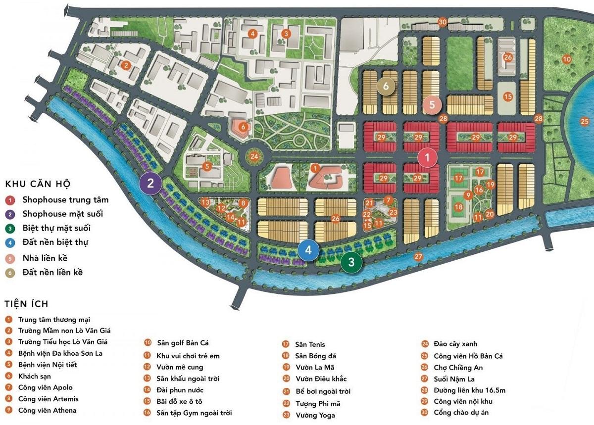 Tại Picenza Riverside, cư dân có thể dễ dàng tiếp cận đến 30 tiện ích nội, ngoại khu.