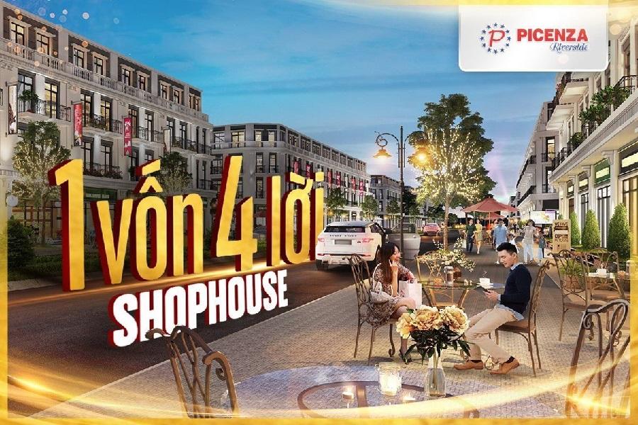 Shophouse trung tâm - sản phẩm BĐS linh hoạt giá trị cao tại Picenza Riverside