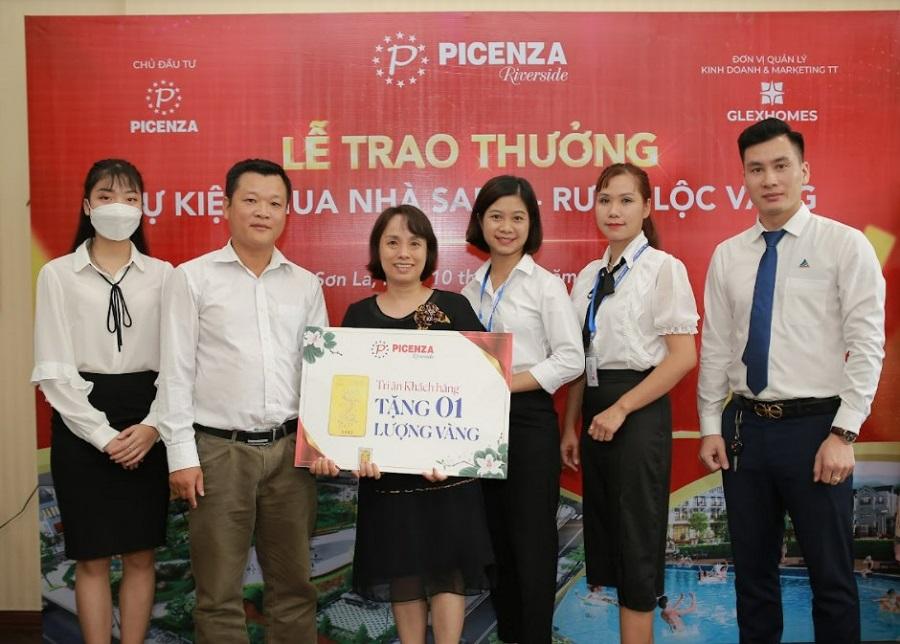 Chúc mừng 50 khách hàng may mắn đã nhận 50 lượng vàng SJC tại dự án Picenza Riverside